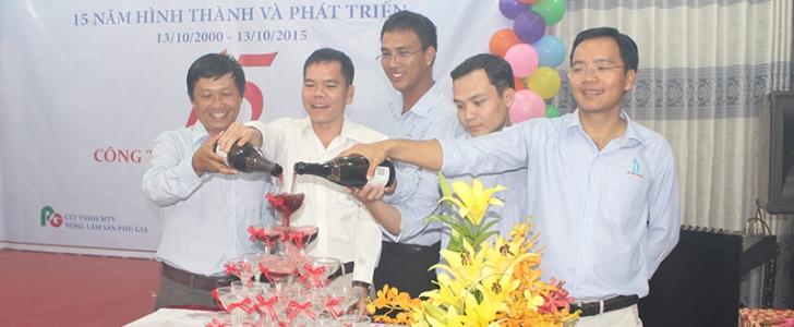 Công ty TNHH Đại Phú Thịnh kỷ niệm 15 năm thành lập